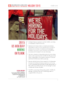 2015 Holiday Hiring Preview by FBIC Global Retail Tech
