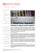 Flash Report on American Apparel Chap 11 by FBIC Global Retail Tech Oct. 5