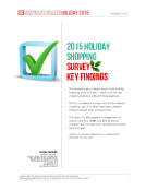 2015 Holiday Shopping Survey Report by FBIC Global Retail Tech