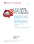 Holiday 2015 E-Gifting Report by FBIC Retail Tech