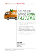Holiday 2015 Shipping Trends by FBIC Global Retail Tech