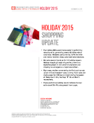 Holiday 2015 Shopping Update by FBIC Global Retail Tech
