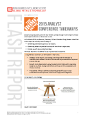 Home Depot Analyst Day Report By FBIC Global Retail Tech Dec 8 2015