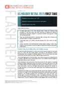 US 2015 Holiday Retail First Take by FBIC Global Retail Tech Dec. 30 2015