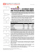 Wayfair W 4Q15 Results by FBIC Global Retail Tech Feb. 24 2016