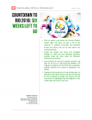 Countdown to Rio 2016 6 Weeks by Fung Global Retail Tech June 27 2016