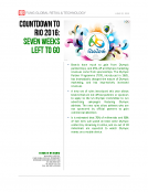 Countdown to Rio 2016 7 Weeks by Fung Global Retail Tech June 20 2016