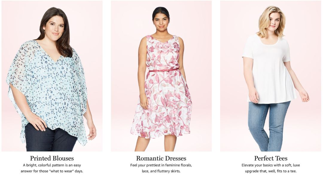 Editors' top picks for a summer wardrobe on Amazon's plus size fashion page.
